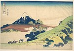 冨嶽三十六景 甲州犬目峠-The Inume Pass in Kai Province (Kōshū Inume tōge), from the series Thirty-six Views of Mount Fuji (Fugaku sanjūrokkei) MET DP141045.jpg