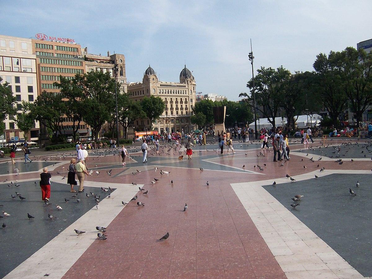 Pla a de catalunya wikipedia - Placa universitat barcelona ...