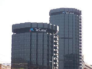 Savings bank (Spain) - Towers of La Caixa in Barcelona.