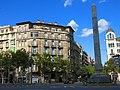 072 Casa Garriga, pg. de Gràcia 112 - Còrsega 321 i obelisc del Cinc d'Oros (Barcelona).jpg