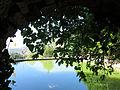 077 Sant Miquel del Fai, l'estany des de l'església.JPG