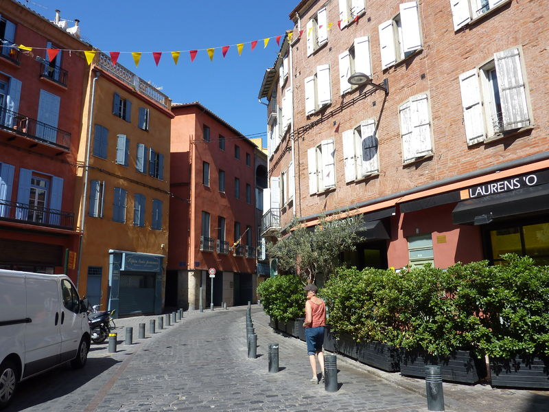 La rue de la Fusterie à Perpignan