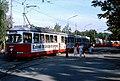 093L17030982 Eröffnung U Bahn Linie U1 bis Kagran, Kaisermühlen, Schüttauplatz, Endstelle Strassenbahn Linie 22, Typ E1 4684.jpg