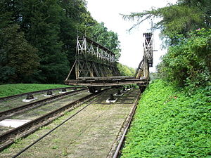 Elbląg Canal - The inclined plane carriage in Buczyniec