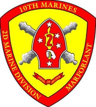 10th Marine Regiment (United States) - Image: 10th Marine Regiment Seal