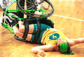 141100 - Wheelchair basketball Liesl Tesch accident - 3b - 2000 Sydney match photo.jpg