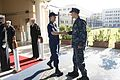 151217-N-OX801-021 Rear Adm. Cathal O'Connor, right, welcomes Vice Commandant, U.S. Coast Guard, Vice. Adm. Charles Michel.jpg