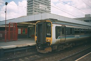 Central Trains - Image: 156 unit in Coventry 2000