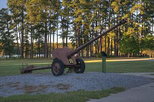 85 mm divisional gun D-44 - D-44 on display at Georgia Veterans State Park