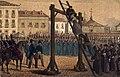 1853, Los mártires de la libertad española, vol II, Egecucion de Miyar en Madrid (cropped).jpg