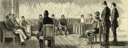 A trial in the Ottoman Empire, 1879, when religious law applied under the Mecelle 1879-Ottoman Court-from-NYL.png