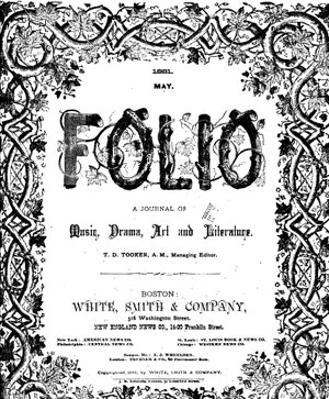 White, Smith & Company - Cover of The Folio in 1881.