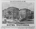 1885 Hotel Victoria Rotterdam ad Harpers Handbook for Travellers in Europe.png