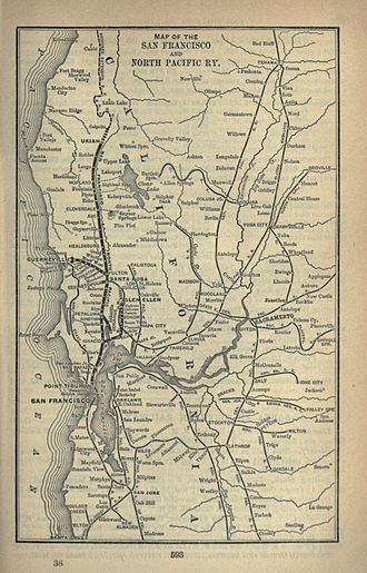 San Francisco and North Pacific Railroad - San Francisco and North Pacific Railway, 1893