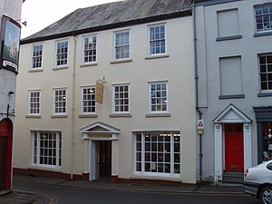 The Angel Hotel, Monmouth - The former Angel Hotel, now a furniture shop