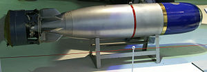 "18"" Mark 30 torpedo - A Mark 30 torpedo at the RAF Museum in Hendon"