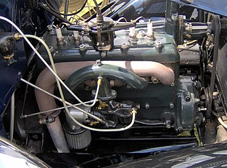 Ford Model A (1927–31) - Image: 1931 Ford Model A roadster engine