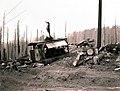 1938. Donkey engine. Flora Logging Company operation. Tillamook Burn, Oregon. (33635240630).jpg