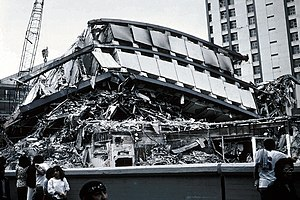 1985 Mexico City earthquake - Apartment Complex Pino Suárez, in the wake of the 1985 Mexico City earthquake.