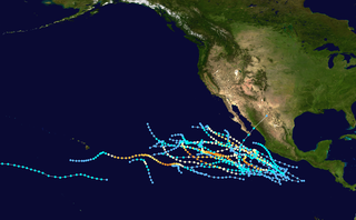 1990 Pacific hurricane season Period of formation of tropical cyclones in the Eastern Pacific Ocean in 1990