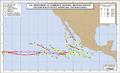 1999 Pacific hurricane season map.png