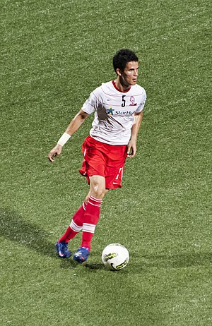Baihakki Khaizan - Baihakki featuring for LionsXII in a 2012 game against Kuala Lumpur