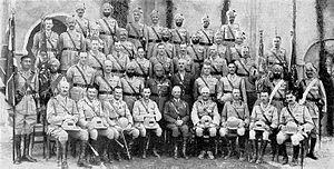 66th Punjabis - Image: 2 1st (2) Punjab, Nov 1930, Kohat. Presentation of new colours by FM Sir William Birdwood, C in C, India