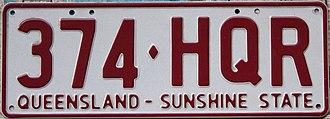 Vehicle registration plates of Australia - Queensland
