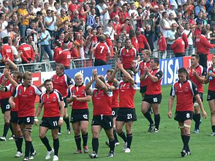 15 alla fine dell'incontro della coppa del mondo 2007 contro il galles