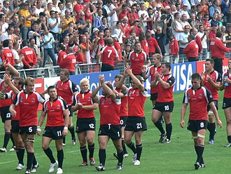 Canada national rugby union team - Canadian team after a pool stage match during the 2007 World Cup