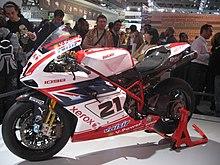 La Ducati 1098 in livrea speciale su cui Bayliss corre l'ultima prova del Mondiale Superbike 2008