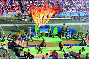 2009 Pro Bowl - The game's halftime show