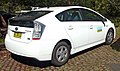 2009 Toyota Prius (ZVW30R) liftback (NSW Department of Environment and Climate Change) 01.jpg