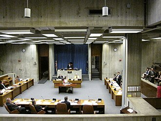 Boston City Council - The council meets in the Christopher A. Iannella Chamber in Boston City Hall