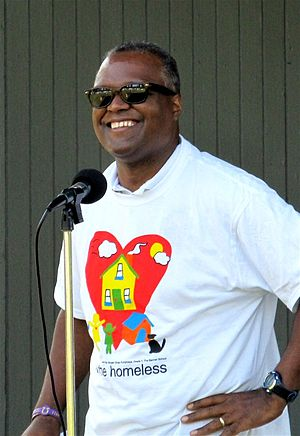 Rushern Baker - Baker giving a speech in September 2012