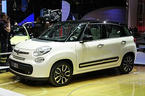 Economy of Serbia - Fiat 500L – motor vehicles are the leading export product of Serbia