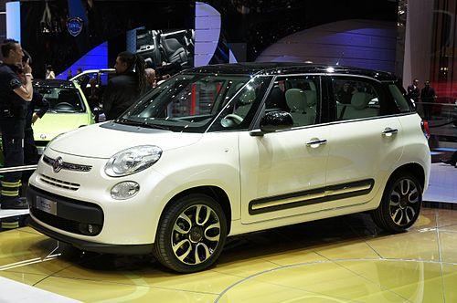 The Fiat 500L is manufactured in FCA plant in Kragujevac. 2012 Geneva Motor Show - Fiat 500L.jpg