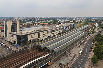 Berlin-Spandau station - Image: 2013 08 View from Rathaus Spandau 08