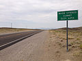 2014-07-17 11 20 02 View west along U.S. Route 6 about 46.1 miles east of the Esmeralda County Line at Warm Springs Summit, Nevada.JPG