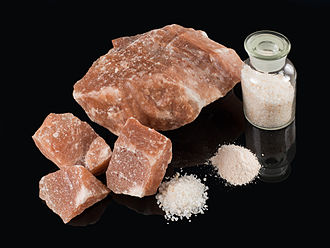 Salt - Red rock salt from the Khewra Salt Mine in Pakistan