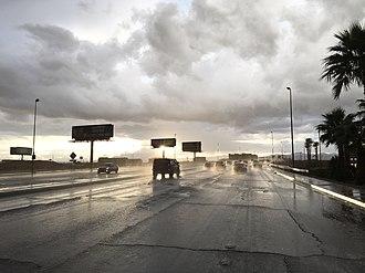 Russell Road (Las Vegas) - View west along SR 594