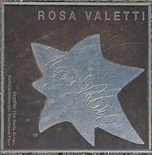 Rosa Valetti German actress