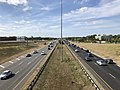 2019-09-27 14 46 41 View west along Virginia State Route 7 (Harry Byrd Highway) from the overpass for Virginia State Route 607 (Loudoun County Parkway) on the edge of University Center and Ashburn in Loudoun County, Virginia.jpg
