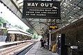 2019 at Hebden Bridge station - platform 1 signs.JPG