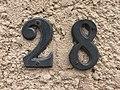 28, rue des Andrés, numéro de rue à Saint-Maurice-de-Beynost (Ain, France).jpg
