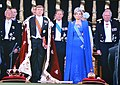 "30 April 2013, Abdication of Queen Beatrix and coronation of King Willem Alexander at New Church Amsterdam when singing ""Het Wilhelmus"", our national song - panoramio.jpg"