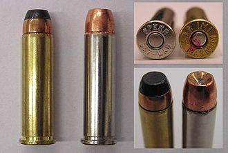 Rim (firearms) - Rimmed .357 Magnum revolver ammunition
