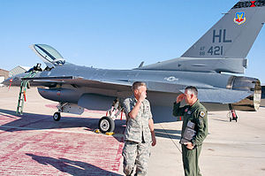 388th Operations Group - The final 388th Fighter Wing Block 40 F-16 to undergo Common Configuration Implementation Program upgrades is handed over to Col. Scott Dennis (right), 388th FW commander