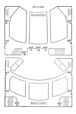 48th Street Theatre - 48th Street Theatre seating plan from the playbill for The Broken Wing (1920–21)