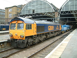 GB Railfreight - Class 66 at King's Cross station in September 2004